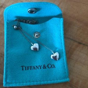 Tiffany & Co. Two heart sterling silver necklace